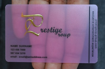 Awesome cool business cards by frosty plastic transparent business pin it reheart Image collections