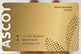 Metallic business cards design by frosty plastic transparent frosted card frosted card reheart Images